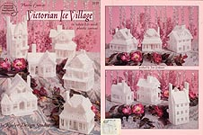 ASN Plastic Canvas Victorian Ice Village