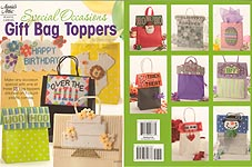 Annie's Attic Plastic Canvas Special Occasions Gift Bag Toppers