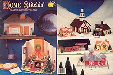 Mangelsen & Sons Home Stitchin' Plastic Canvas Village
