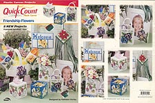 TNS Quick Count Plastic Canvas Friendship Flowers