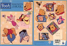 LA Pooh Magnets for You in Plastic Canvas