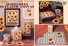 LA Sunflowers in Plastic Canvas