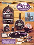 TNS Plastic Canvas Pink Carnations Kitchen Set