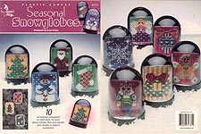 Annie's Attic Plastic Canvas Seasonal Snow Globes