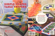 Simple Shape Table Toppers to quilt using combinations of Nine Patch, Log Cabin, and Roman Stripes blocks
