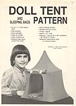 SEW Doll Tent and Sleeping Bags Pattern