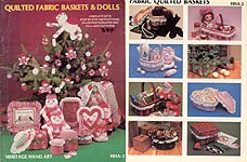 Quilted Fabric Baskets & Dolls