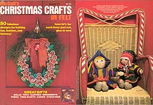 McCall's Christmas Crafts in Felt, Book VI