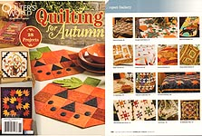 Quilter's World QUILTING for Autumn