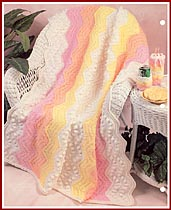 Robynes Rainbow full-sized afghan