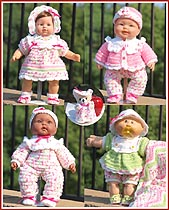 Rainbow Sherbet Layette for 15 inch dolls