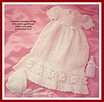 Baby's Best rose bordered christening dress