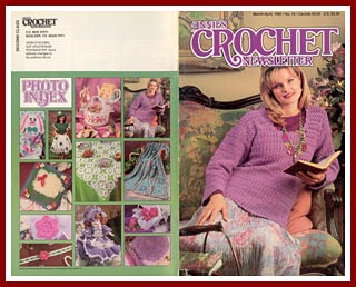Cover of Annies Crochet Newsletter for March - April 1995.