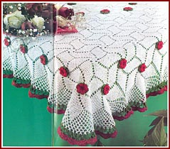 Rose and Spiral square tablecloth