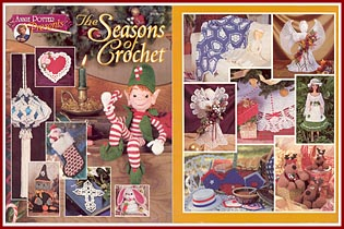 The Seasons of Crochet, published by Annie Potter Presents, contains my Pilgrim Cookie Cutter Doll patterns.