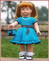Shopping With Grama is a 1950s - inspired outfit for your favorite 18 inch doll.