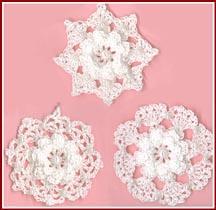 Roses and Snowflakes ornaments