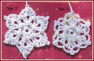Free pattern for crocheted snowflakes.