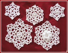 Irish Crochet Snowflakes, a new e-pattern from Treasured Heirlooms Crochet