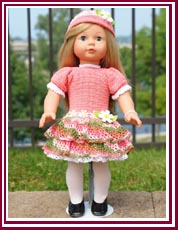Spring outfit for 18 inch dolls.