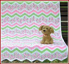 Coming Soon: Summer Rainbow Sherbet Ripple baby afghan
