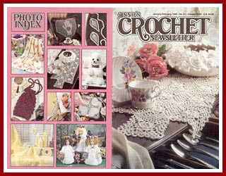 Cover of Annie's Crochet Newsletter from Jan-Feb 1998
