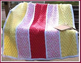 Tulip Basket Afghan from Spring Baskets Afghan pattern set.
