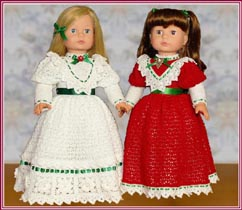 "Coming Soon: Victorian Elegance antique-inspired gowns, plus matching wooden spoon dolls, for 18"" dolls"