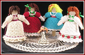 Victorian Elegance antique-inspired wooden dolls