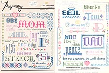 Imaginating A To Z and More counted cross-stitch designs