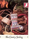 Vanessa Ann Christmas in Cross-Stitch: Blue Country Stocking