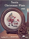 Stoney Creek Collection Santa Christmas Plate 1988