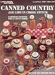 LA Canned Country Jar Lids in Cross Stitch