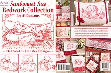 Annie's Sunbonnet Sue Redwork Collection for All Seasons