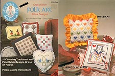 Plaid Ent. Cross Stitch Folk Art Pillow Designs
