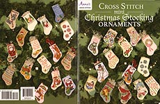 Annie's Cross- Stitch Mini Christmas Stocking Ornaments