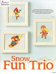 Annie's Cross- Stitch Snow Fun Trio