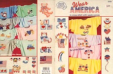 ASN Wear America in Cross Stitch with Waste Canvas